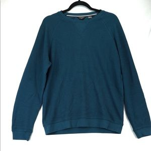 Black Brown Teal Medium Crew Neck Sweater